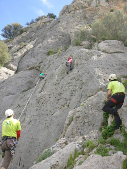 Espiel Iniciación a la escalada