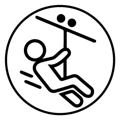 Icono para parques de aventura