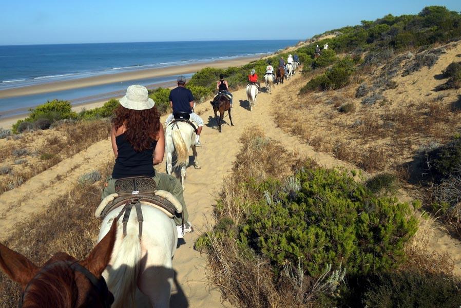 Grupo a caballo en Faro del Sur