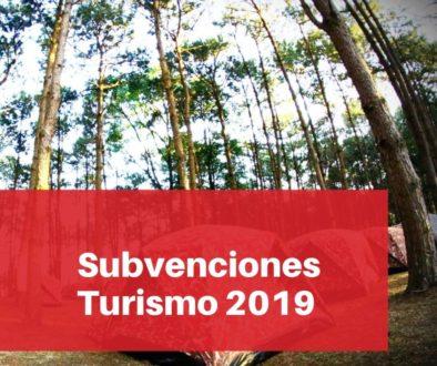 Subvenciones Turismo 2019